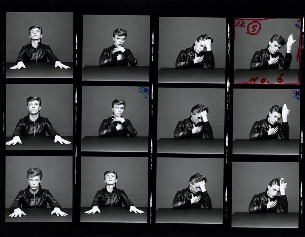 """Heroes"" Contact Print (Piece No. 32), 1977, Foto Sukita ©Sukita / The David Bowie Archive"