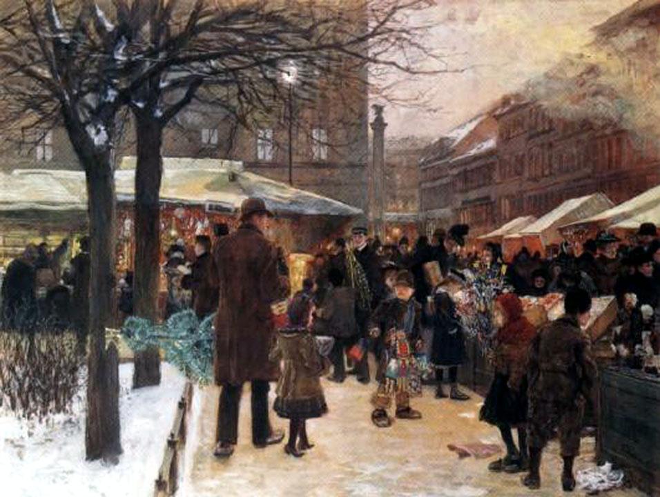 Weihnachtsmarkt in Berlin im Jahre 1892