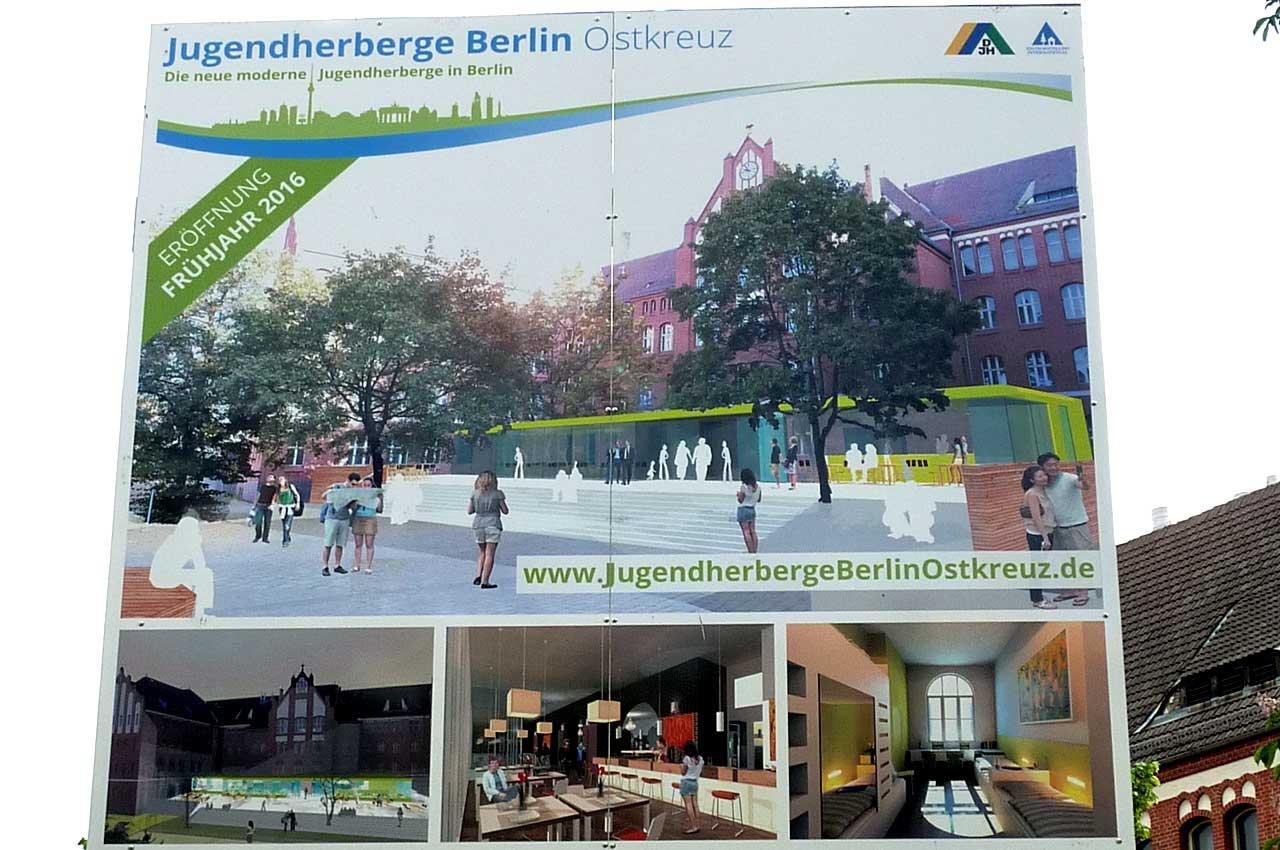 Jugendherberge Ostkreuz - Bauschild